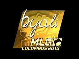 Sticker | byali (Gold) | MLG Columbus 2016