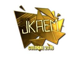 Sticker | jkaem (Gold) | Cologne 2016