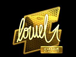 Sticker   loWel (Gold)   Atlanta 2017